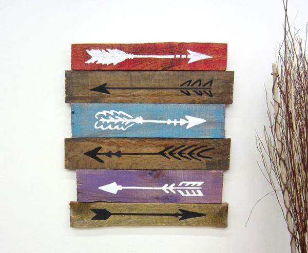 Artesanato em madeira flechas