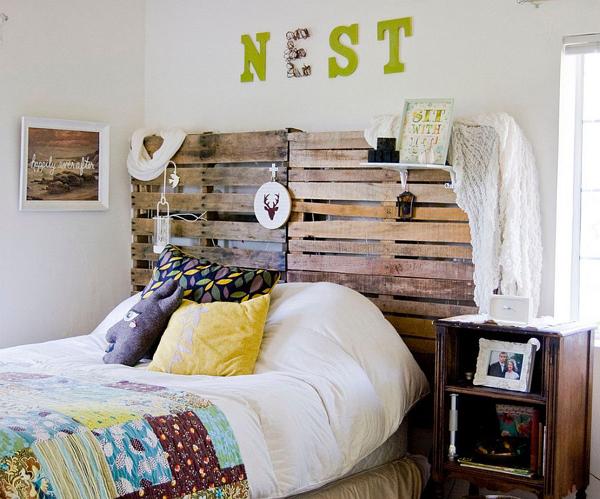Artesanato em madeira cabeceira cama