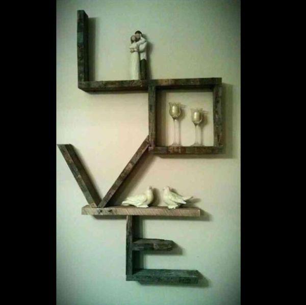 Artesanato em madeira enfeite love