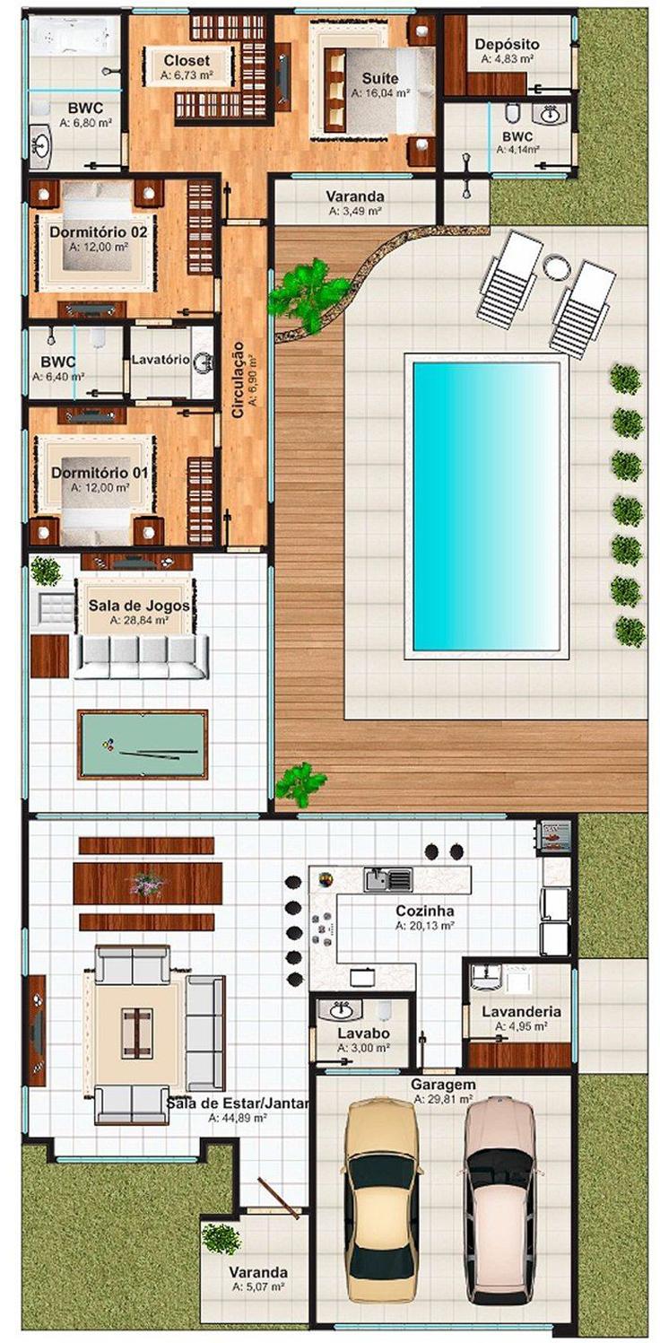 piscina projeto de casa