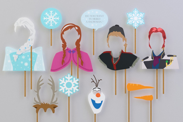 festa Frozen placas
