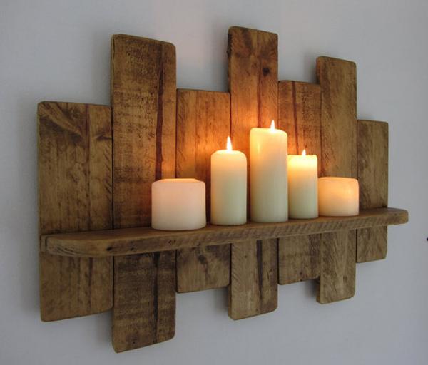 Artesanato em madeira porta velas