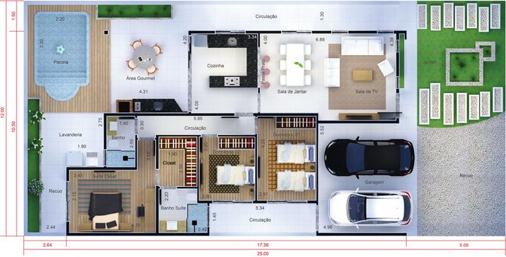 projeto de casa estreita