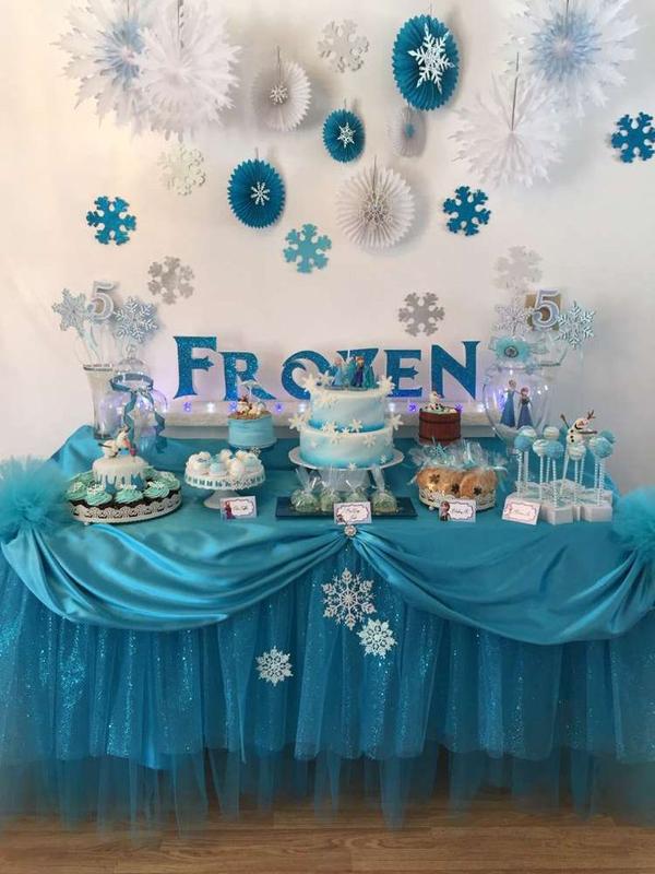 festa Frozen flocos de papel