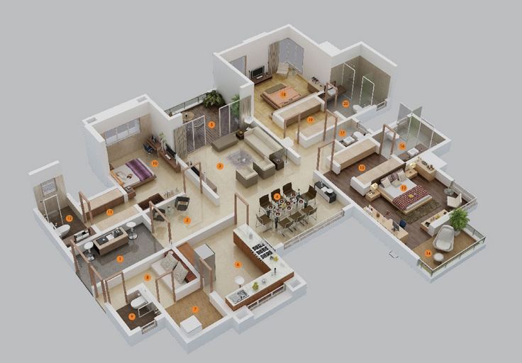 projeto de casa refinada