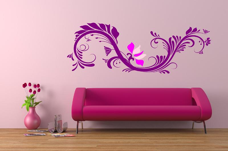 parede decorada com adesivo