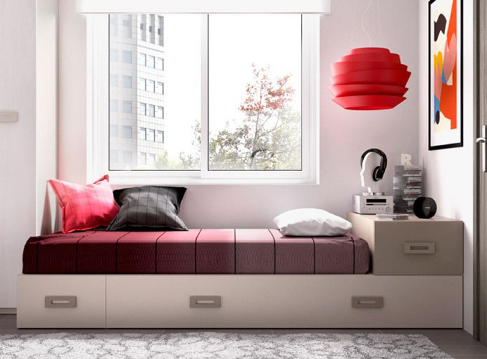 quarto de solteiro minimalista