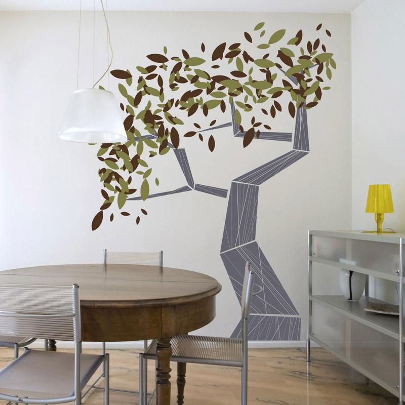 parede decorada com papel contact