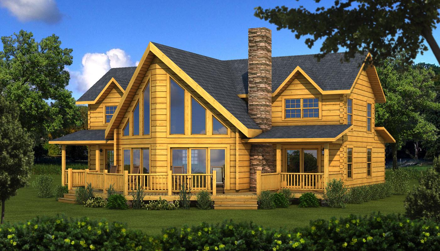 casa com madeira amarela