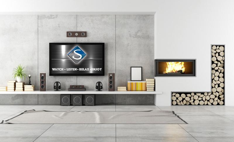 sala de tv cimento