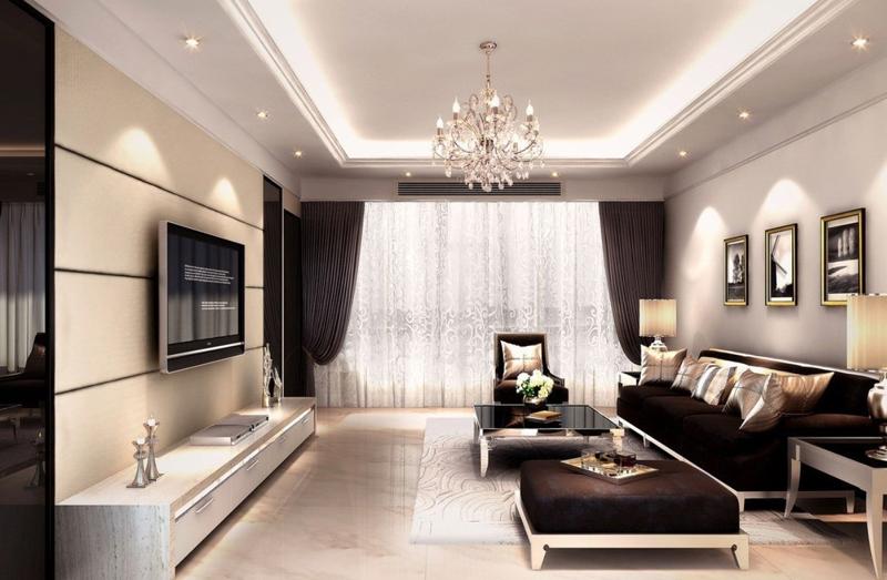 sala de tv sofisticada