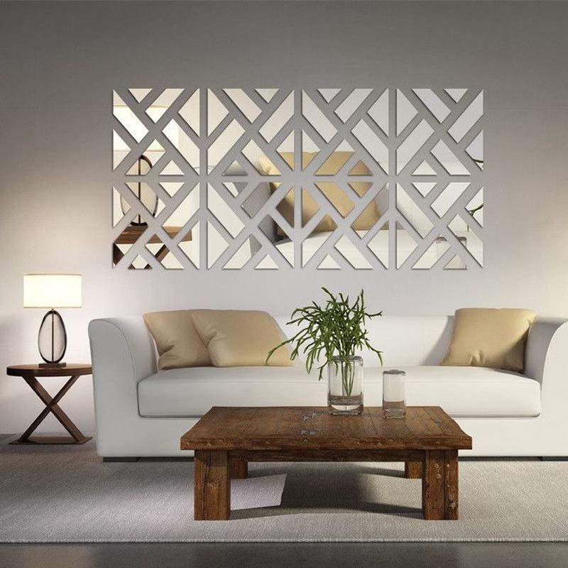 parede decorada com geometria