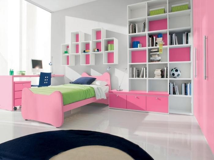 quarto de solteiro colorido