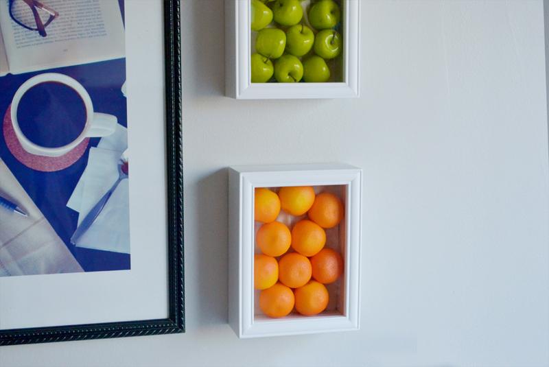 parede decorada com frutas