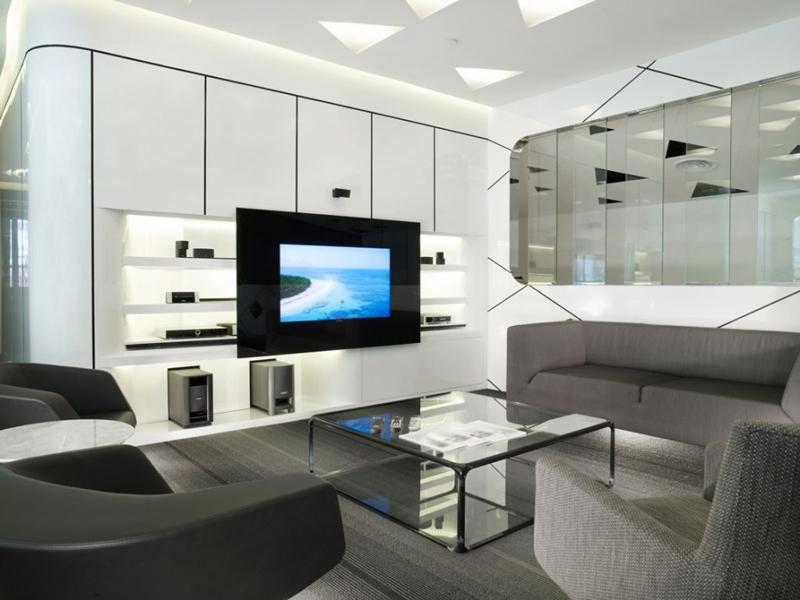 sala de tv futurista