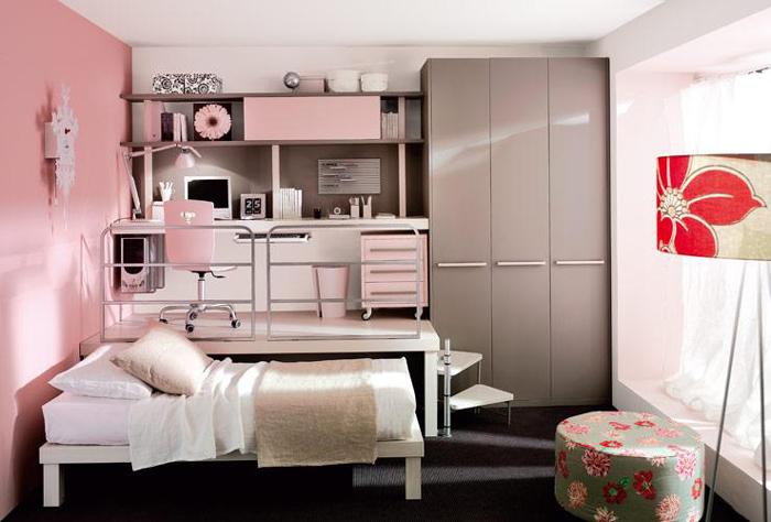 quarto de solteiro de menina
