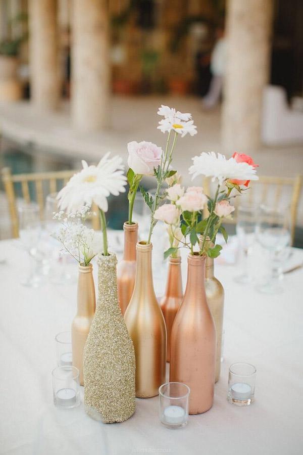 decor casamento garrafas