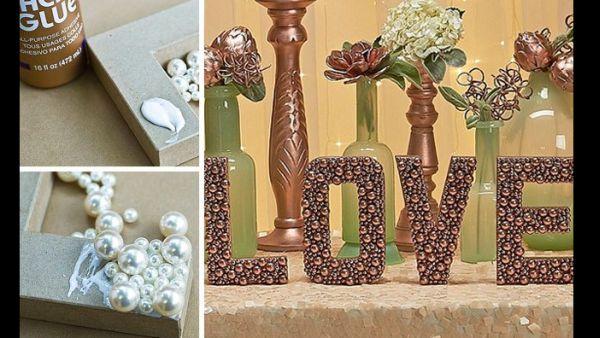 decor casamento letras