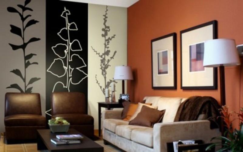 parede decorada com listras