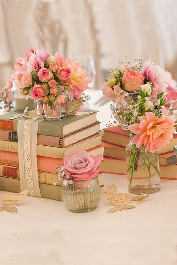 decor casamento livros