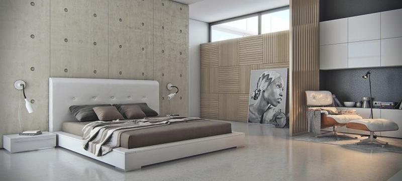 parede decorada com mix textura