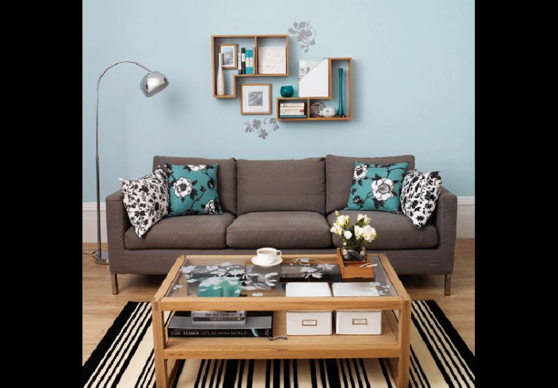 teal and brown living room decor paredes decoradas 70 fotos e dicas de decora 231 227 o 25450
