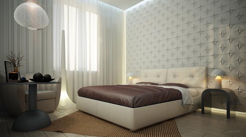 parede decorada com papel de parede