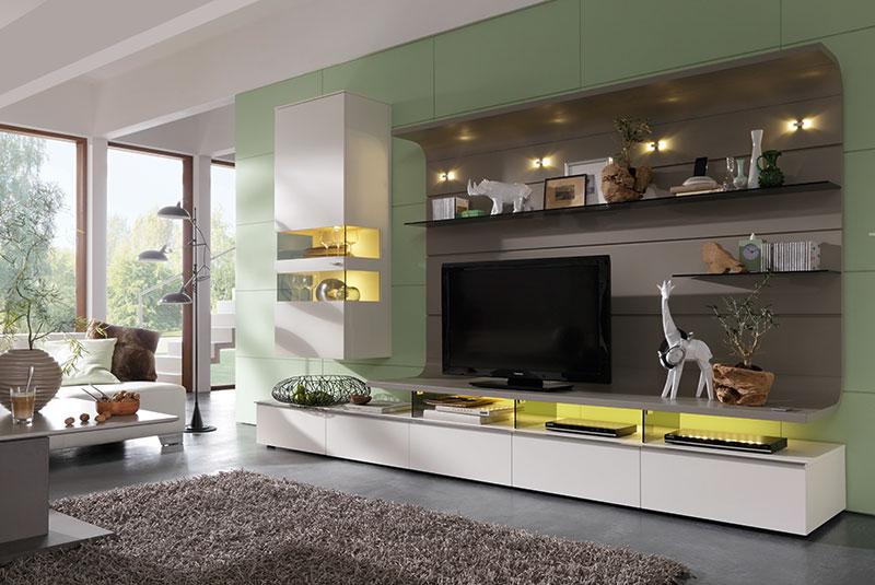 sala de tv verde