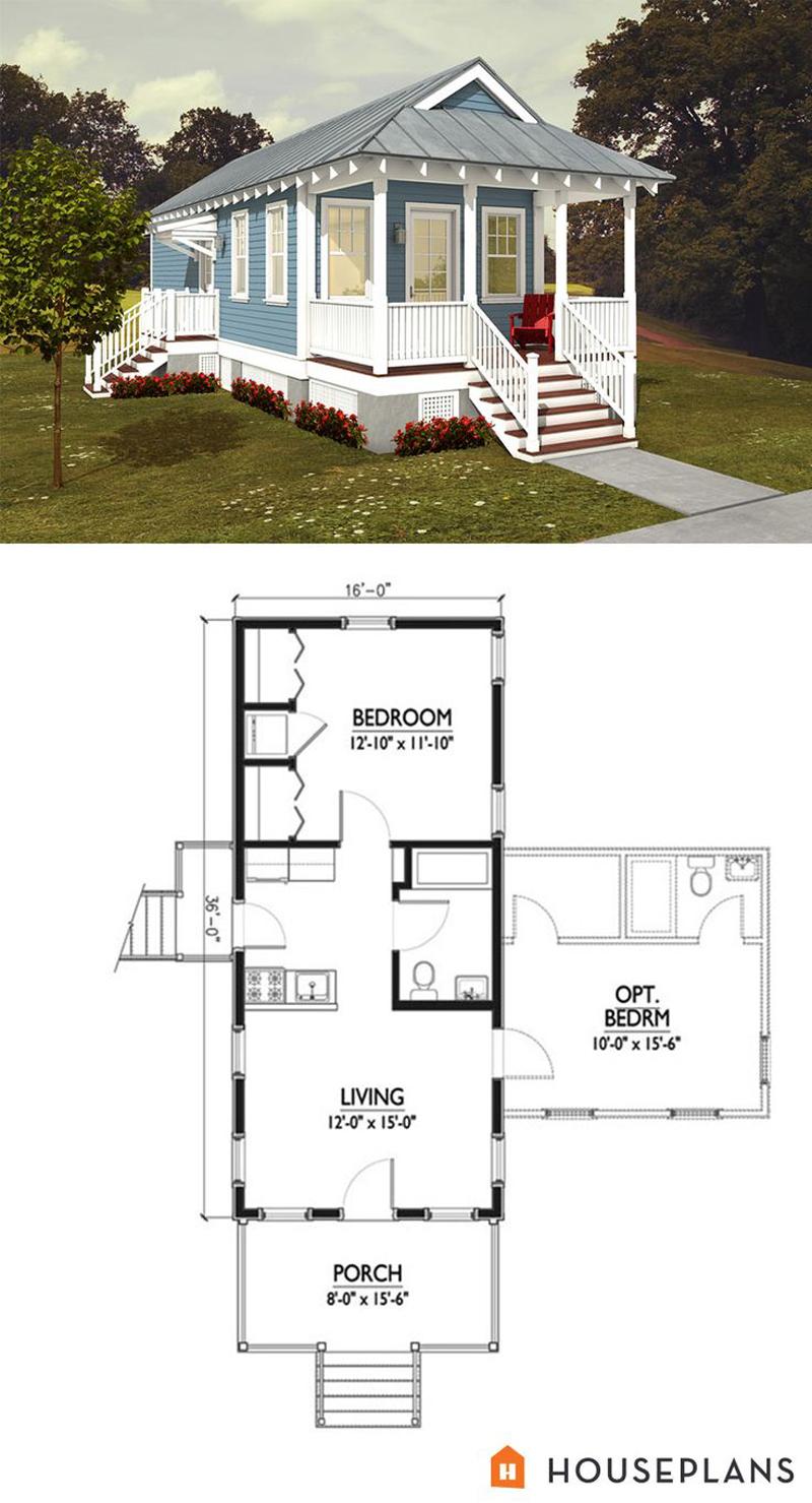 casa com madeira planta