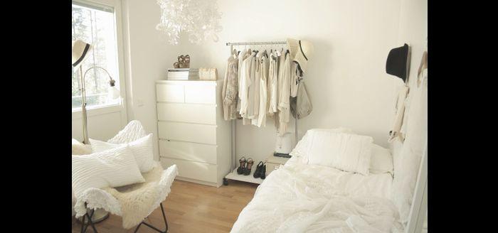 quarto de solteiro clean