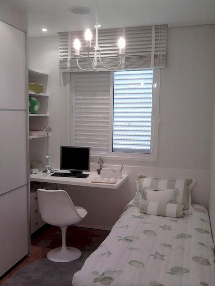 quarto de solteiro branco
