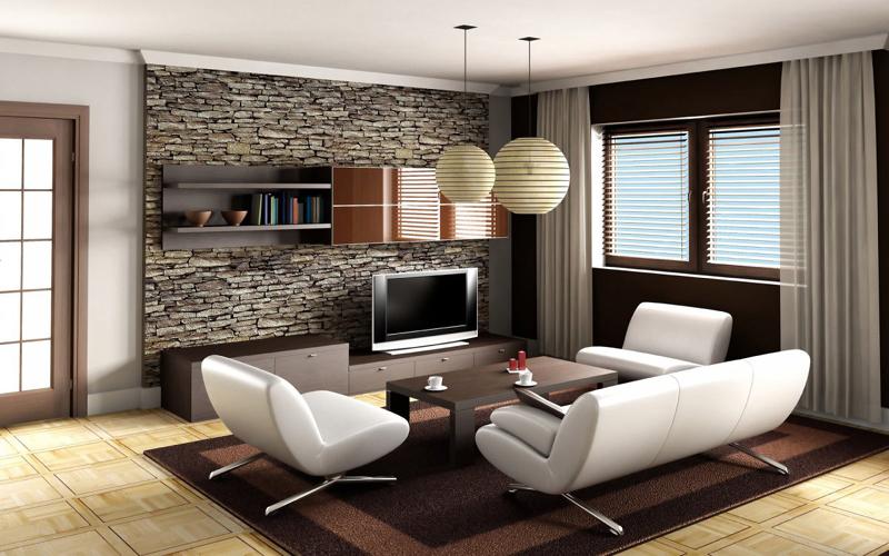 sala de tv pedras