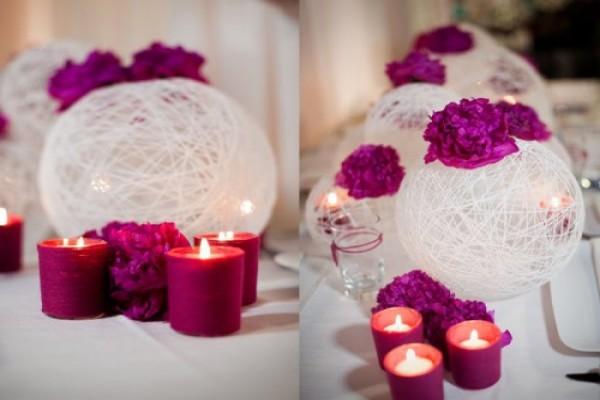 decor casamento velas coloridas
