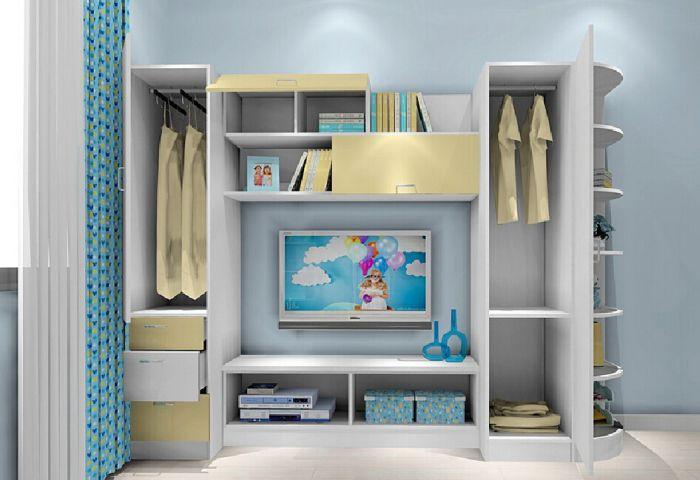 armario planejado com televisao