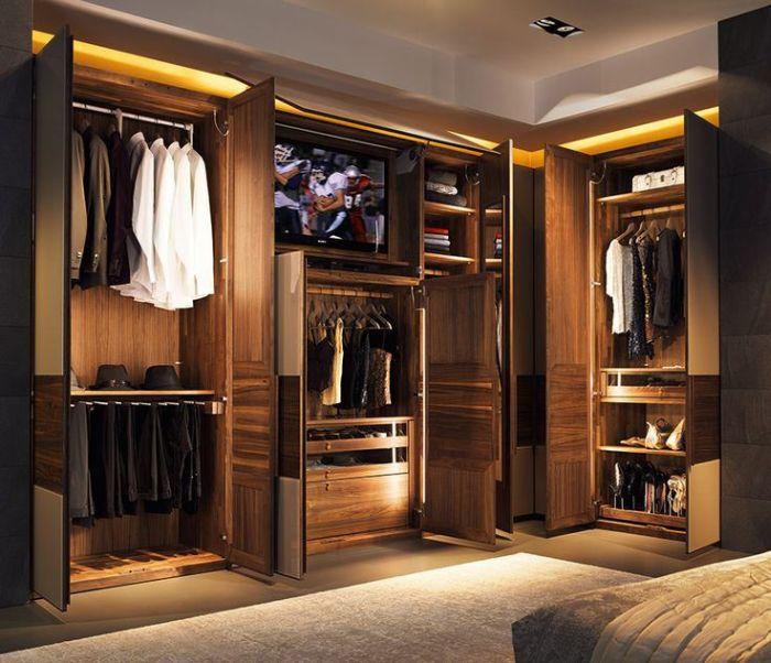 armario planejado iluminado