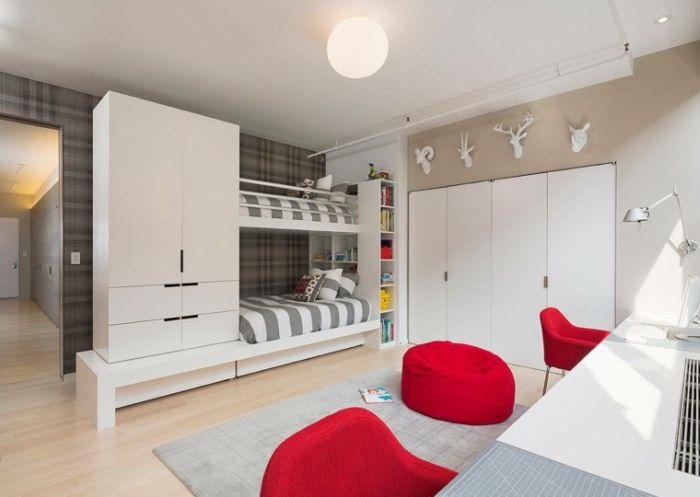 armario planejado com beliche