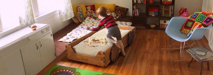 quarto montessoriano cama carrinho