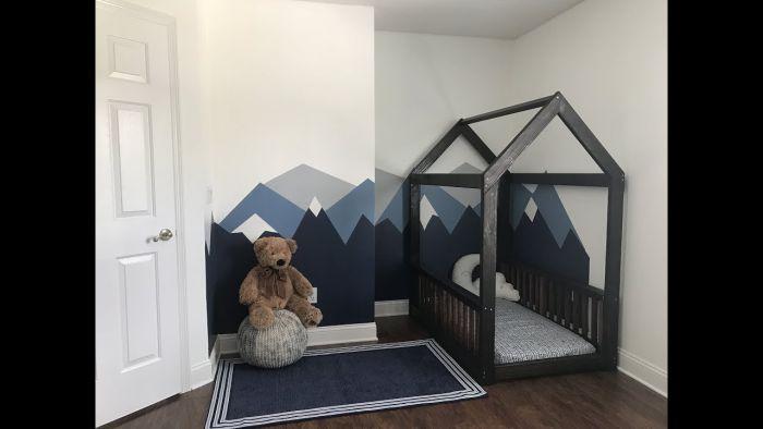 quarto montessoriano cama preta