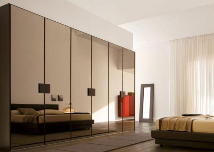 armario planejado espelho marrom