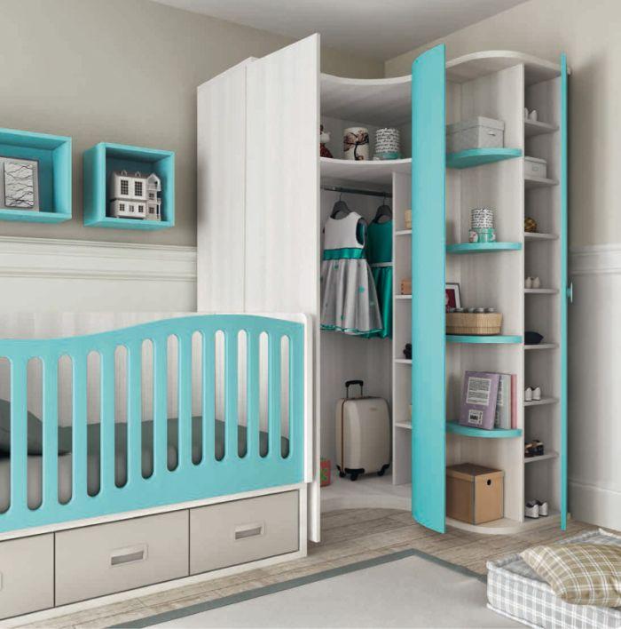 armario planejado azul