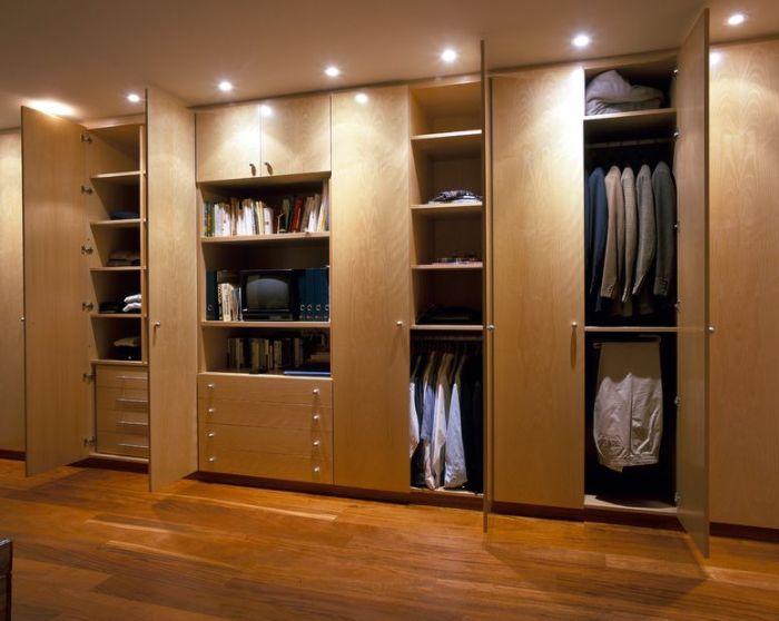 luzes no armario