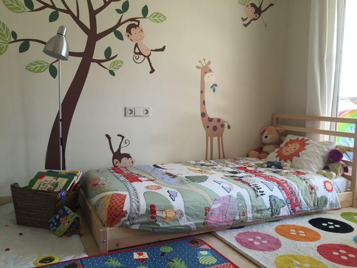 quarto montessoriano adesivo de parede