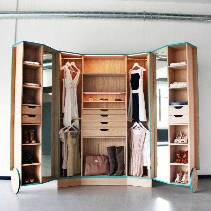 armario planejado com rodas
