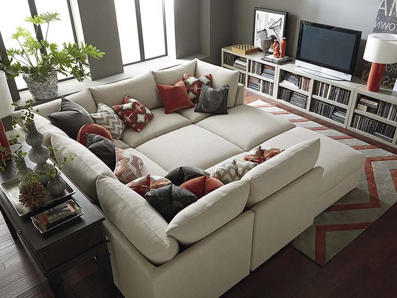 Sectional With Oversized Ottoman