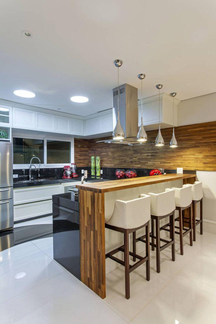 Modelos De Ilha Cozinha Com Ilha Aberta Para A Sala Mobilada Com Os