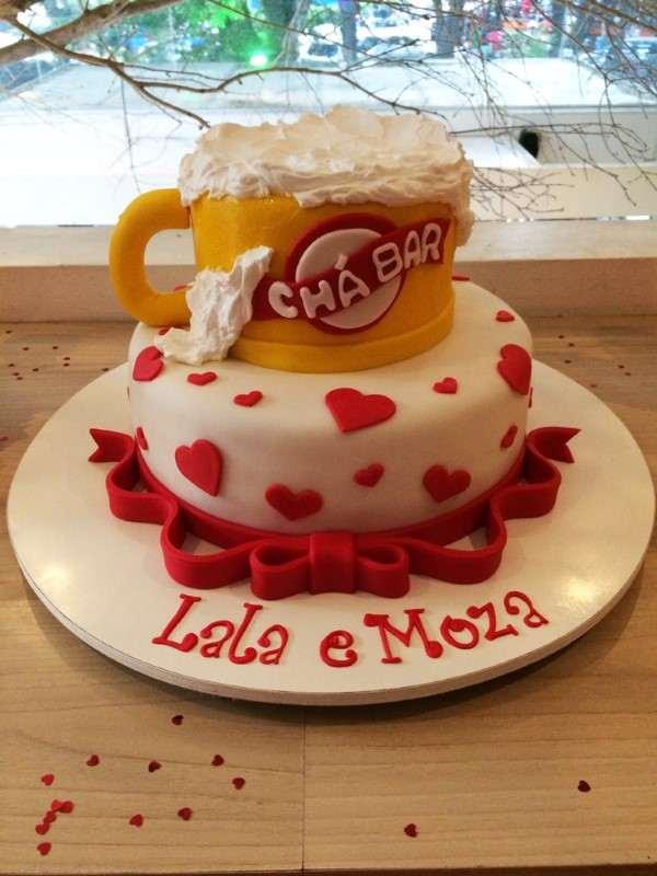 decoração de bolo chopp