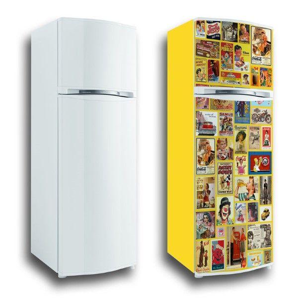 envelopamento para geladeira amarelo