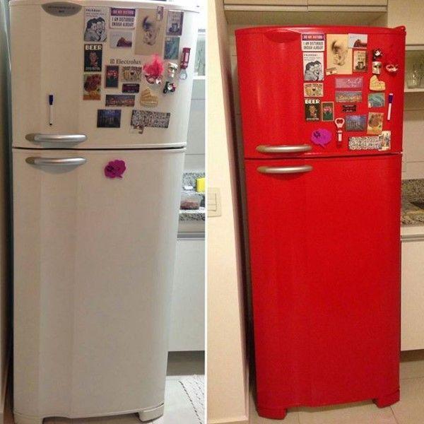 geladeira vermelha