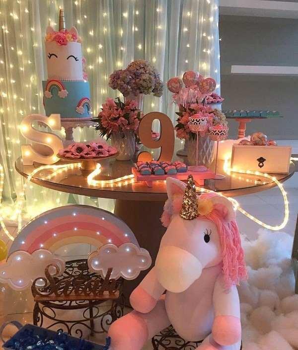 decoração do unicornio