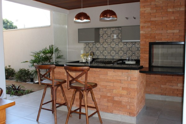 espaço gourmet decorado